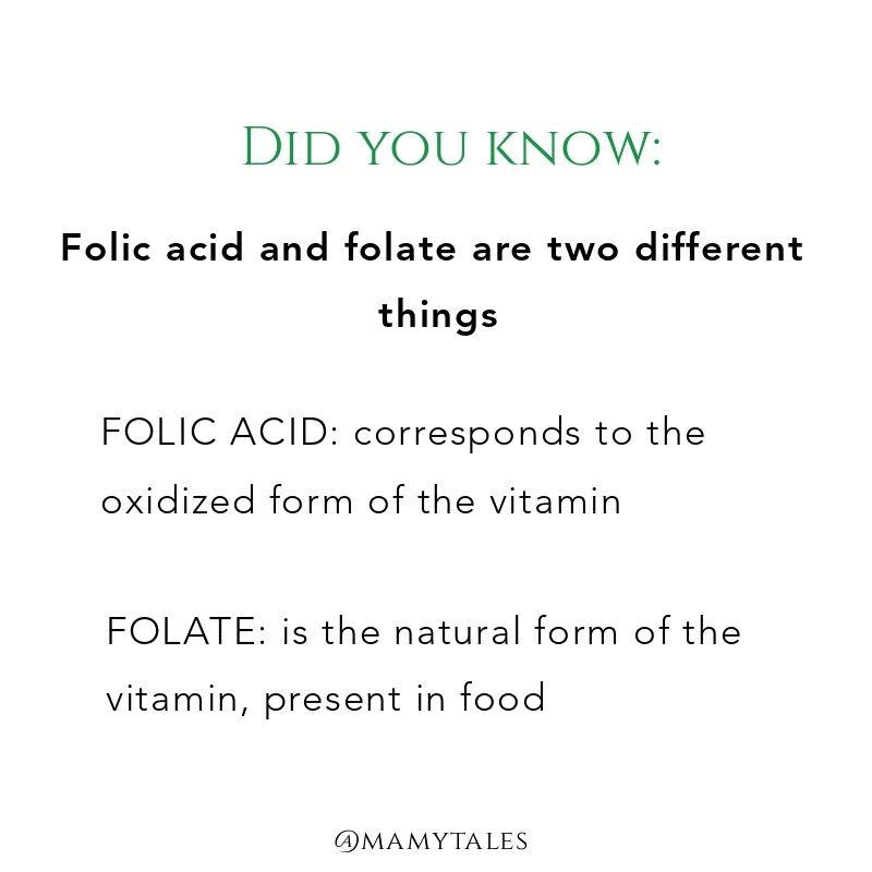 Folic acid and folate pregnancy
