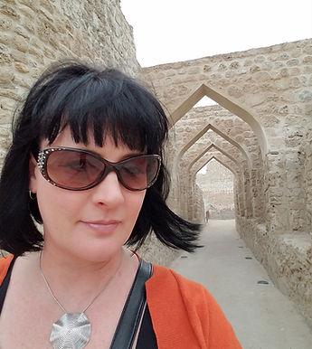 Karen at Bahrain Fort
