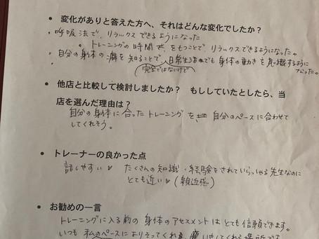 トレーニングレポート