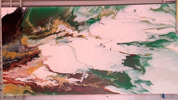 WCC0013 WAVE OF ELECTRIC 2X4 FEET ON CANVAS MATTED $275.00