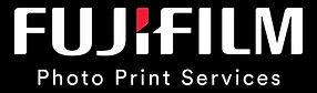 Fujifilm Photo Print Services Logo White