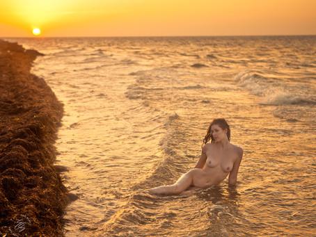Yucatan Beach Golden Hour (2020)