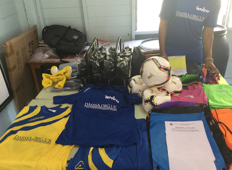 DASSSA Donates Football Kits to Orion Academy.
