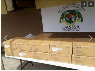 DASSSA Donates WiFi Projectors to all Secondary Schools in Dominica.