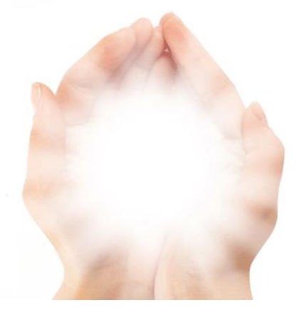 Reconnective Healing Hands with light