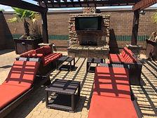 Hilton Pool Lounge Area