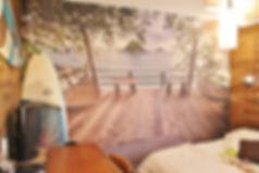 Toile décorative murale dans une chambre à andernos les bains gironde