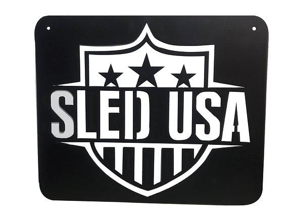 Sled USA Metal Sign