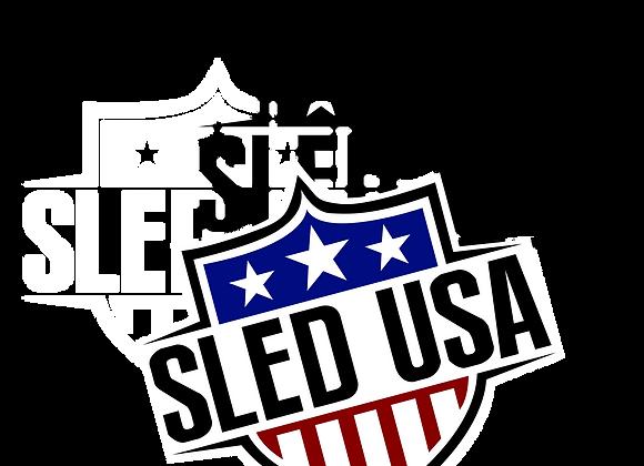 "Sled USA Logo 4"" Decal"