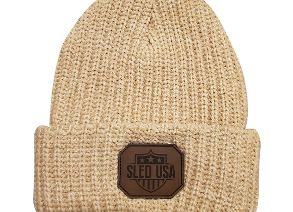 Knit Stocking Cap (Oatmeal)