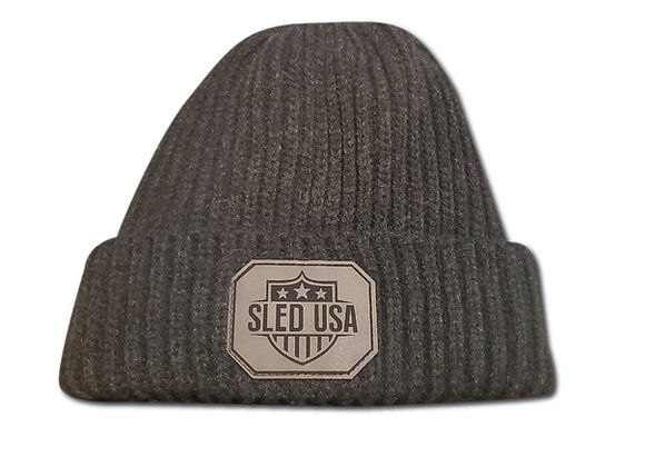 Ribbed Beanie - Charcoal