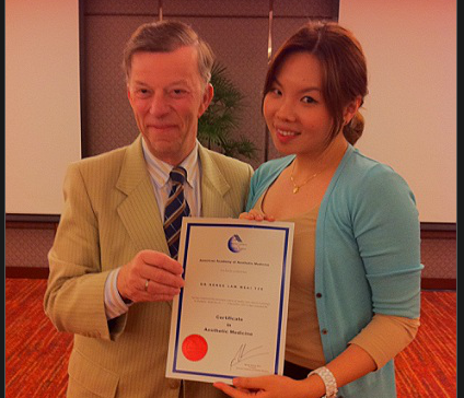 Dr Renee with Dr M. Delune (Cosmetic Dermatologist, USA)