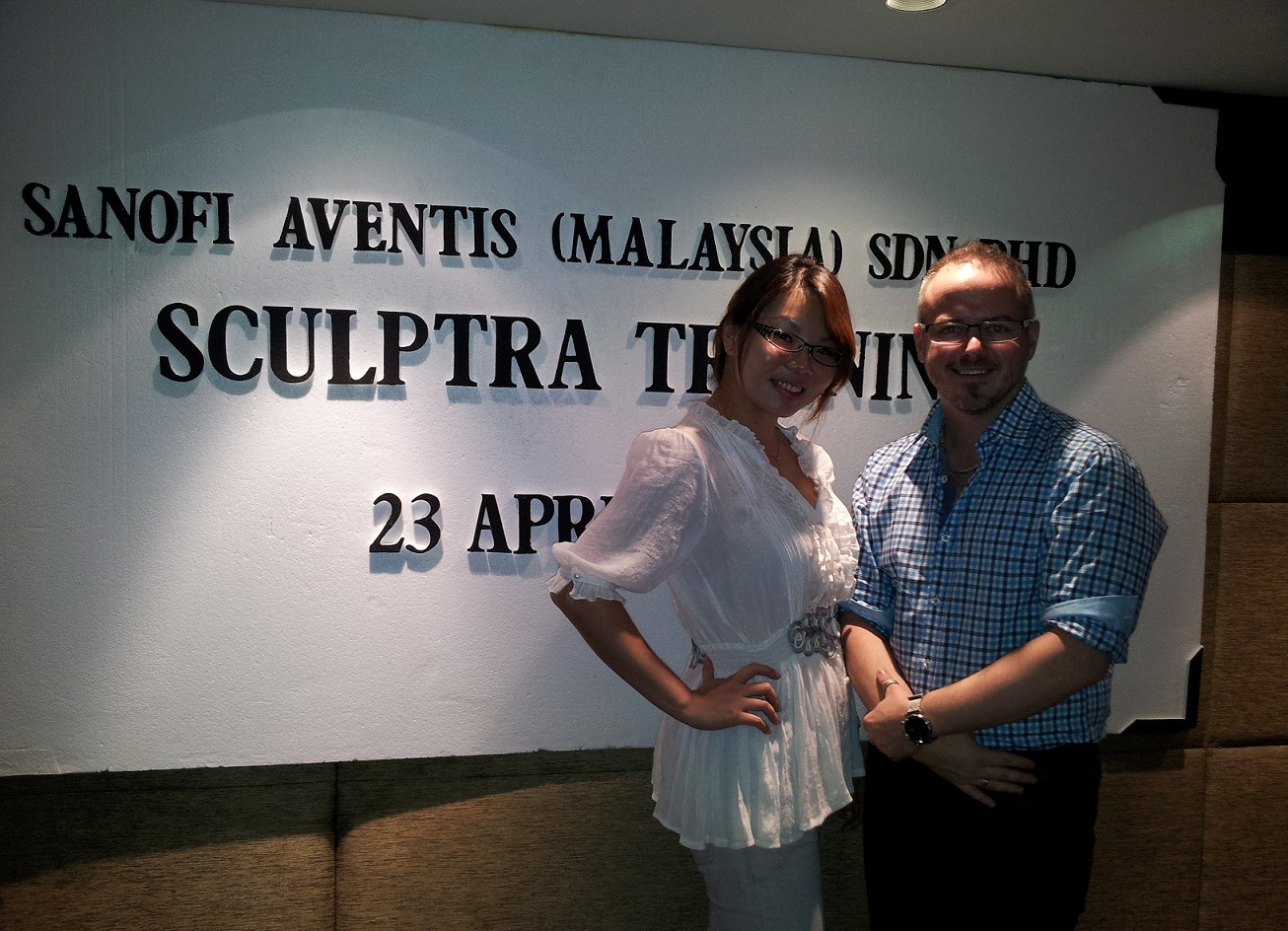 Dr Renee with Dr Scott (Dermatology/ Cosmetic Surgeon, Australia)