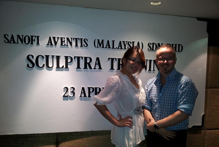 Dr Renee with Dr Scott (Dermatology/ Cosmetic Surgeon, Australia)