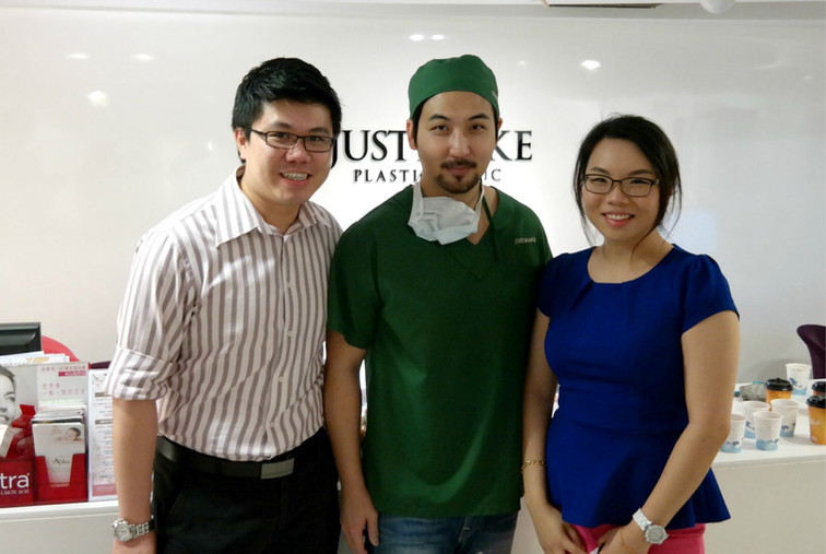 Dr Renee & Dr Cheok with Dr Lee (Celebrity Cosmetic Plastic Surgeon, Just Make Clinic Taiwan)
