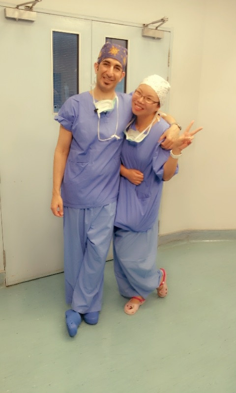 Dr Renee with Dr Afshin Fatemi (Cosmetic Surgeon, Germany)