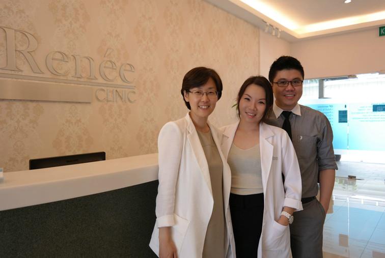 Dr Renee & Dr Cheok with Dr Park Sun Joo (Expert Radiesse Injector, Korea)