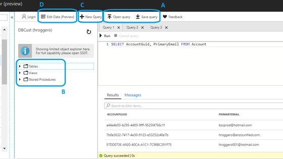 A Quick Look At The Azure Query Editor