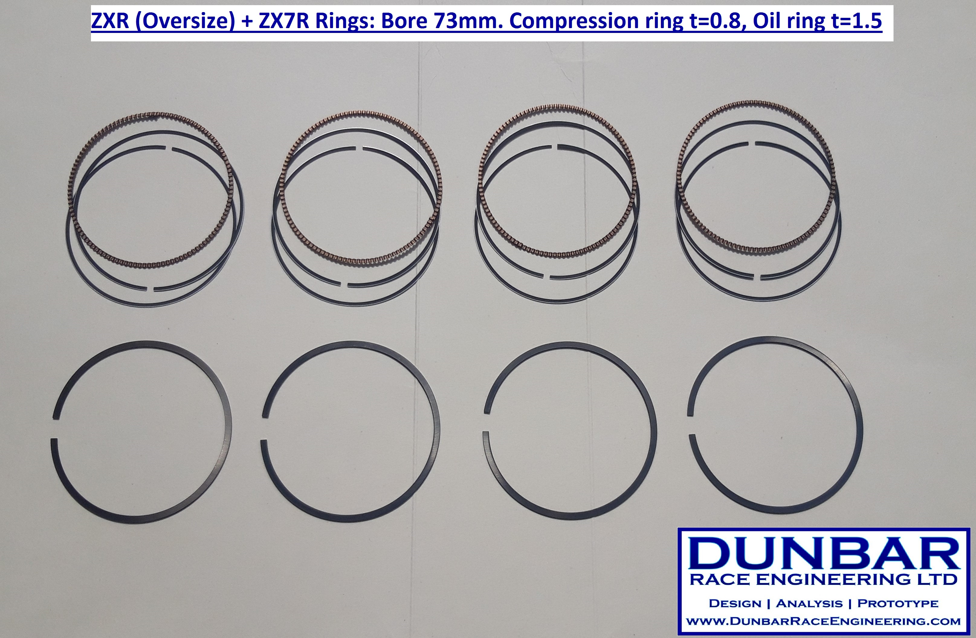 Piston Rings Bore 73mm