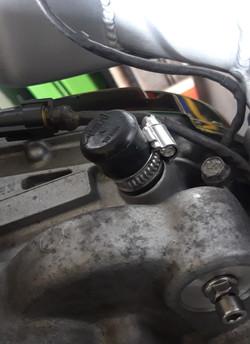 Blank cap above clutch