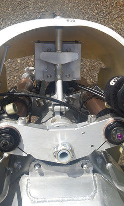 Front fairing bracket from above