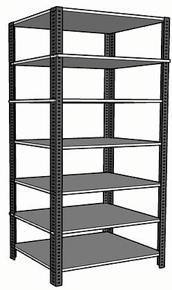 Anaquel Metálico Medidas: 90x60x220cms con 7 entrepaños