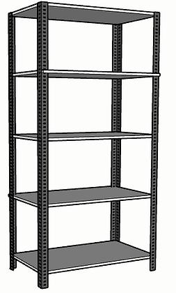 Anaquel Metálico Medidas: 84x45x240cms con 5 entrepaños