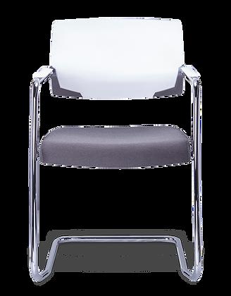 Silla Cool para Visitante Respaldo Plipropileno y Asiento Tapizado en Tela