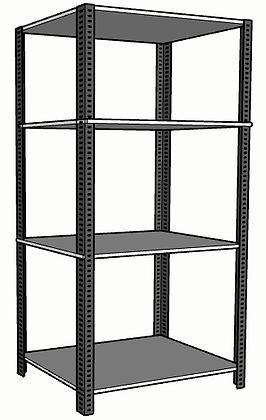 Anaquel Metálico Medidas: 90x60x240cms con 4 entrepaños