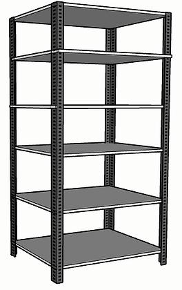 Anaquel Metálico Medidas: 84x60x305cms con 6 entrepaños