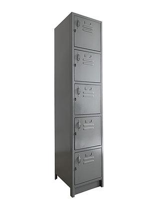 Locker Metálico Medidas: 30x30x180 con 5 puertas