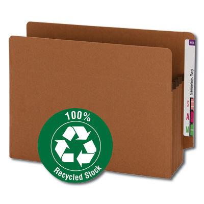 Carpeta de expansión con ceja reforzada (100% reciclada)