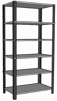 Anaquel Metálico Medidas: 90x45x180cms con 6 entrepaños