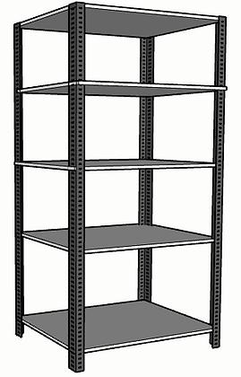 Anaquel Metálico Medidas: 90x60x220cms con 5 entrepaños