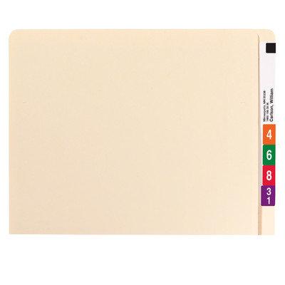 Folder de clasificación lateral reforzado con extensión de ceja