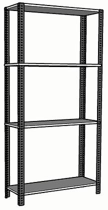 Anaquel Metálico Medidas: 90x30x180cms con 4 entrepaños