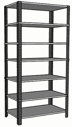 Anaquel Metálico Medidas: 90x45x220cms con 7 entrepaños