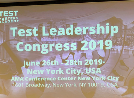Test Leadership Congress 2019 - The wanderlust for leadership knowledge - Part 1 - The Workshop.