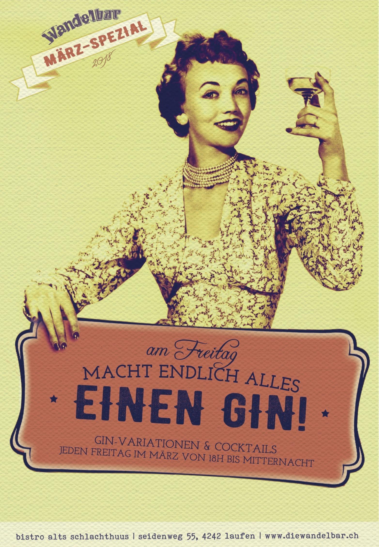 Heute macht endlich alles einen Gin!