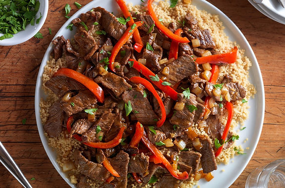 Ginger Beef Stir-Fry & Couscous