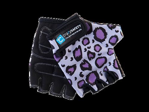 Gloves Purple Leopard