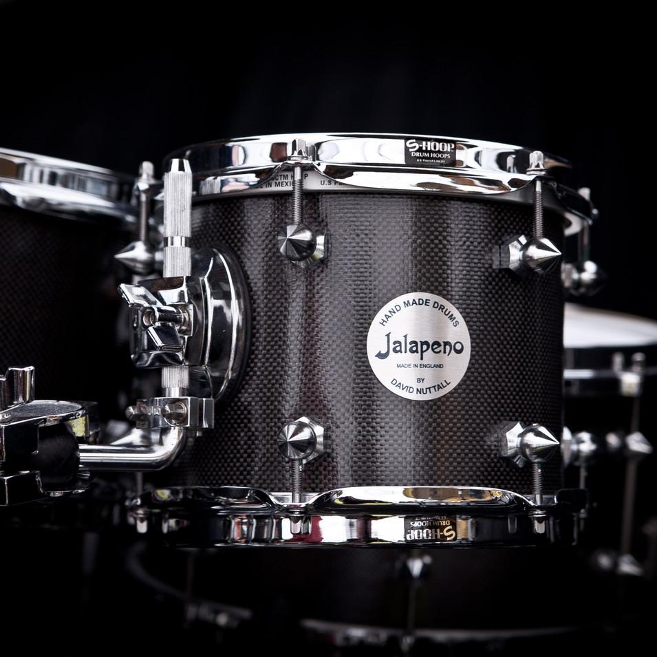 Promo shot for a Jalapeno Drums, a custom drum manufacturer
