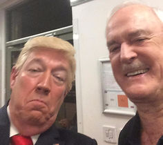 Mike Osman as Donald Trump with John Cleese