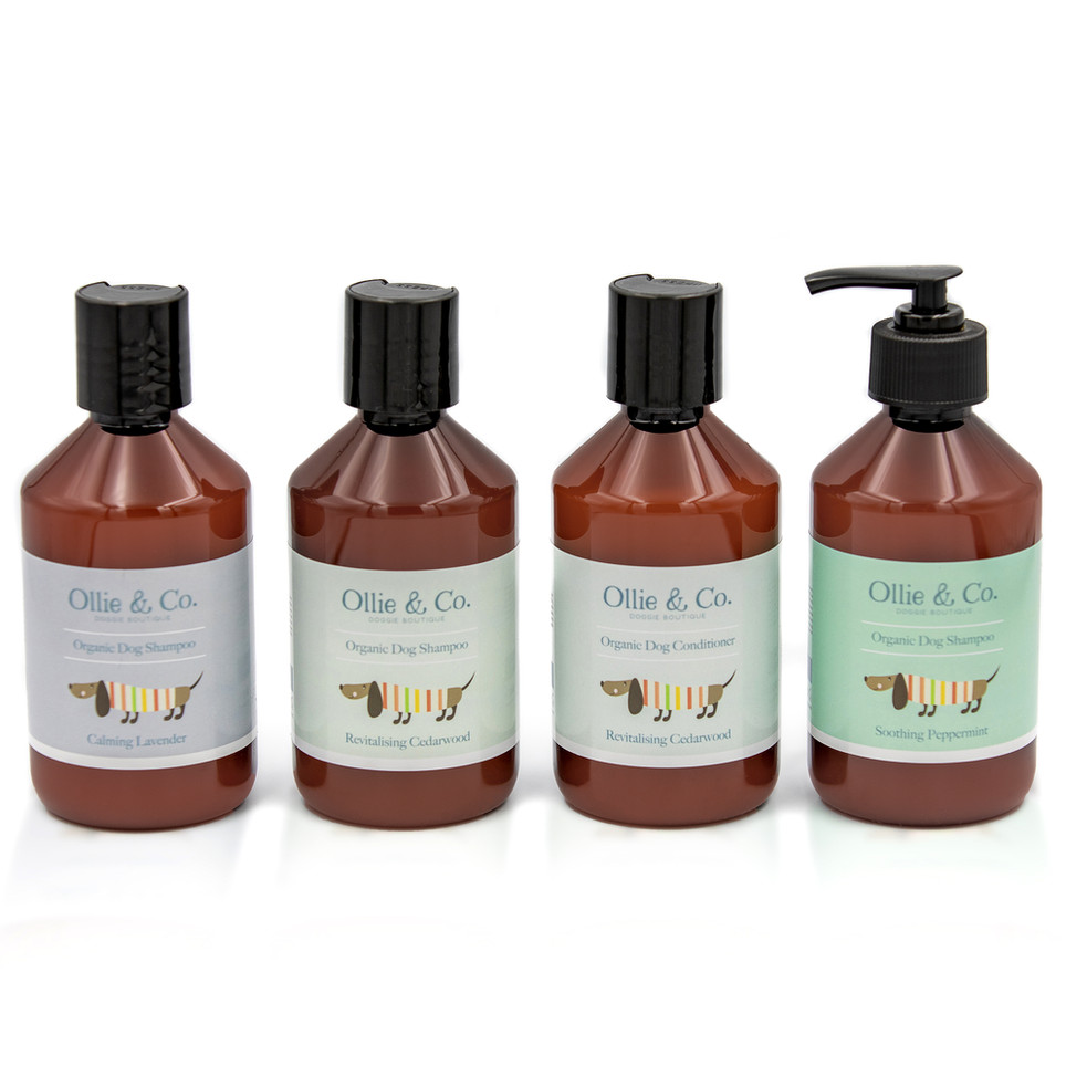 Amazon formatted shot for a range of Dog Shampoo by Ollie & Co