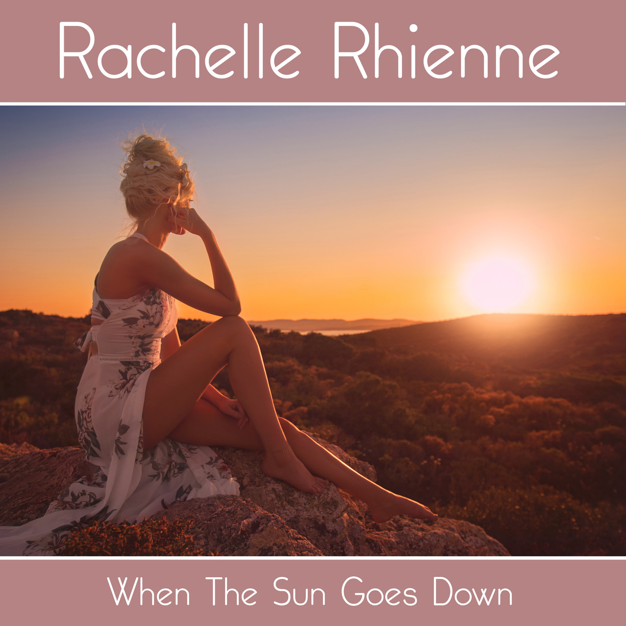 Photography & Artwork. Photo of Rachelle Rhienne taken in Sardinia at one of the locations used for the accompanying music video, which I also filmed and edited.