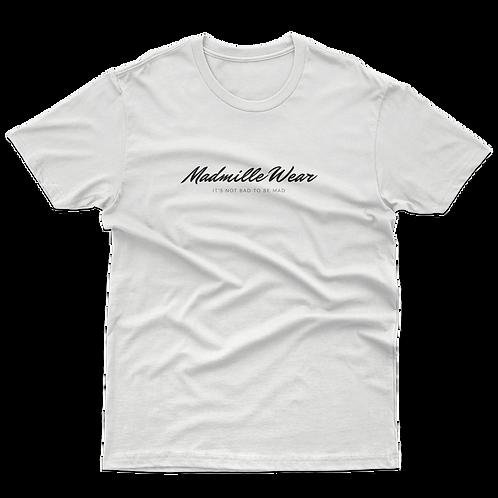 Camiseta Cursiva Madmille Wear Cursive Blanca White