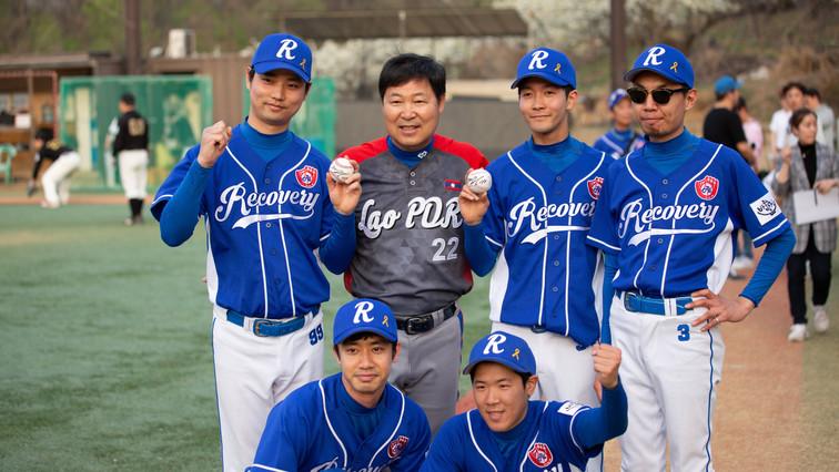 이만수 이사장님과 리커버리 야구단
