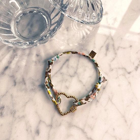 Bracelet Mila Fabrics Heart Vert