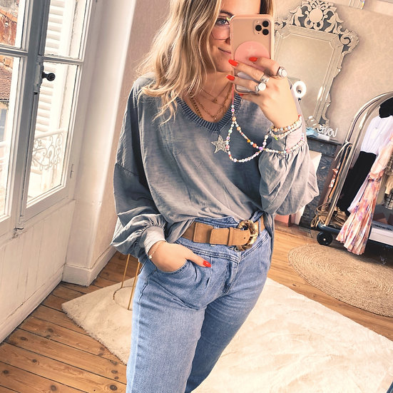 Blouse Star Grise