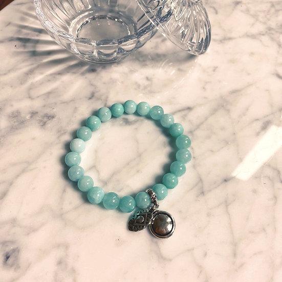 Bracelet Blow Bijoux en Calcédoine Bleu